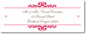 Name Doodles - Rectangle Address Labels/Stickers (Bellingham Pink)